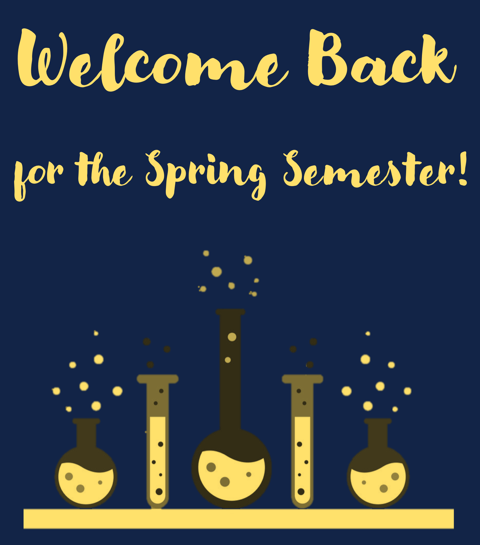 Welcome Back for the Spring Semester!